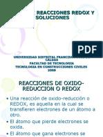 TIPOS DE REACCIONES REDOX Y SOLUCIONES