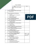 Course Schedule-mathematical statistics