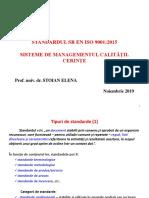 ISO 9001 2015 Cerinte nov 2019