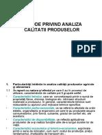 Metode de analiza a calitatii