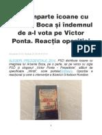 2014 - PSD imparte icoane cu Arsenie Boca
