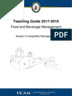 Modulo III_ Food and Beverage Management