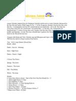Amanic Calendar  (Mezana Ye Khensu)