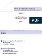 An Introduction to Stochastic Calculus (WSU) 01