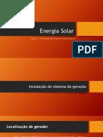 Unidade 1 P5 - Energia Solar