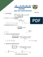 Matematica2 - Semana 3 Guia de Estudio Teoria de Exponentes Ccesa007