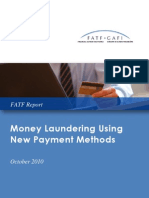 Money Laundering Using New Payment Methods, October 2010
