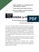 Notas acerca de la experiencia de la ENEBA, La Plata