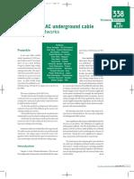 Statistics of AC underground cable