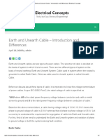 Earth and Unearth Cable - Introduction and Differences _ Electrical Concepts