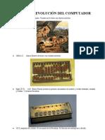 HISTORIA Y EVOLUCIÓN DEL COMPUTADOR