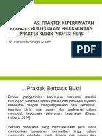 Implementasi EBP dalam pelaksanaan praktek Profesi Ners