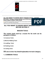 ALL YOU WANT TO KNOW ABOUT MASON TOOLS – BEFORE BUYING IT -LCETED