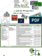 Study Notes in Matter and Its Properties General Chemistry Senior High School