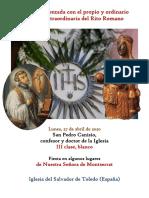 27 de Abril de 2020. San Pedro Canisio y Ntra. Sra. de Montserrat. Propios y Ordinario