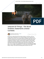 Internet Of Things _ The Rural Problem Statements (Indian Context)