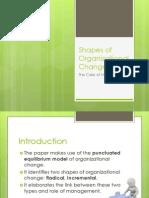 Shapes of Organizational Change