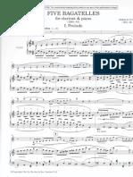 Finzi Bagatellen Prelude Klavierstimme