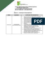 ANEXO II - Conteúdo Programático (1)