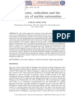 Civil society, radicalism and the rediscovery of mythic nationalism