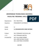 La Organización Como Sistema - 2018