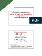 Diseño en Vigas Con Armadura en Compresión y Vigas T