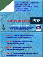 Amo Seminar - Ciap Pocb and Pdcb Cpes 2018