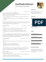Aravindan Geethakrishnan VisualCV Resume