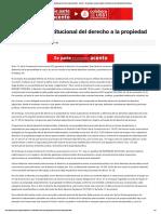 Dimensión constitucional del derecho a la propiedad - Acento - El más ágil y moderno diario electrónico de la República Dominicana