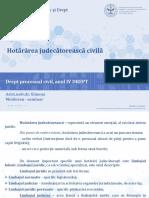 hotărârea judecătorească civilă