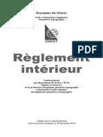 Règlement Intérieur ONIGT
