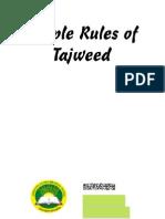 Simple Rules of Tajweed