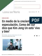 En medio de la creciente especulación, Corea del Sur dice que Kim Jong Un está 'vivo y bien' _ CNN