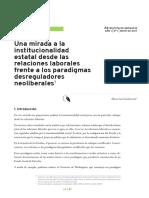 institucionalidad estatal y rel lab UNPAZ