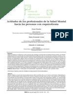 actitudes de los profesionales de la salud mental hacia las personas con esquizofenia. Druetta, Ceresa, Leiderman VERTEX Rev. Arg. de Psiquiat. 2013, Vol. XXIV 245 - 252