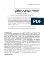 A) The anatomy in relation to injury of the lateral collateral ligaments of the ankle.pdf