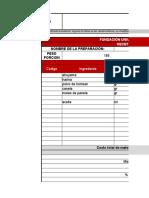 formato receta estándar picaronas
