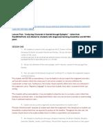 billard annotated lesson plan   reflection