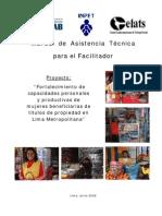 Manual de Asistencia Técnica para el Facilitador