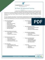 AutoCAD+Plant+3D+Advanced+Agenda