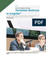 María Teresa Andruetto-La uniformidad destruye lo singular