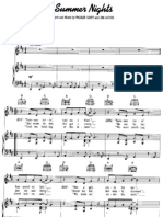 Partitura - Piano - Grease