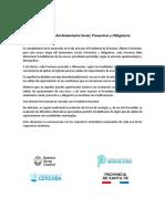 Cuarentena, comunicado conjunto sobre centros urbanos