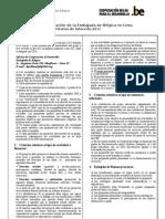 Criterios de selección MIP 2011