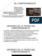TEORIA DEL COMPORTAMIENTO