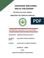 ANALISIS DE LA CASACION 160-2014 - DEYBI CIRO CALDERON TRINIDAD
