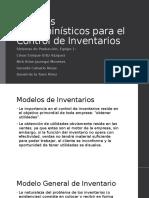 Modelos Determinísticos Para El Control de Inventarios