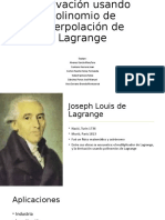 Derivación usando polinomio de interpolación de Lagrange