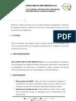 SG-SST-193 PROCEDIMEINTO DE MEDIDAS DE LIEMPIEZA Y DESINFECCION PREVENCION Y AUTOCUIDADO EN LAS INSTALACIONES-convertido
