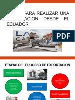 Pasos para realizar una exportacion desde el ecuador